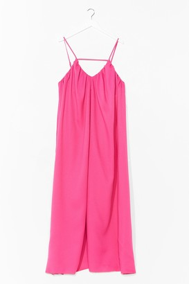 Nasty Gal Womens V-Neck and Call Relaxed Maxi Dress - Pink