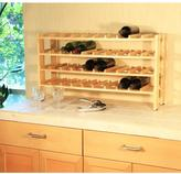 Seville Classics 4-Shelf 40-Bottle Wine Rack in Birch