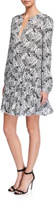 Pinko Printed Keyhole Short Dress