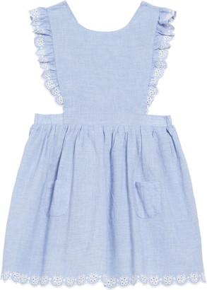 Boden Chambray Pinafore Dress
