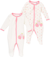 Sweet & Soft Pink & White Strawberry Footie & White Strawberry Footie - Infant