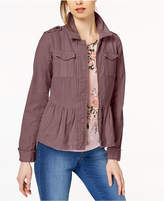 Maison Jules Cotton Peplum Jacket, Created for Macy's