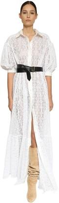 Ingie Paris Eyelet Lace Long Shirt Dress