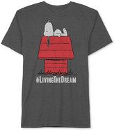 JEM Men's Peanuts Snoopy #Living the Dream Big & Tall T-Shirt