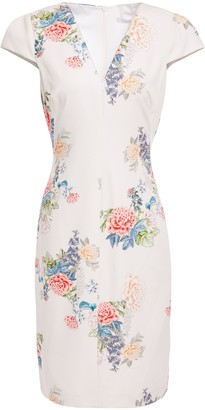 Black Halo Maisie Floral-print Stretch-cady Dress