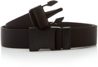 Prada Matte Leather Buckle Belt
