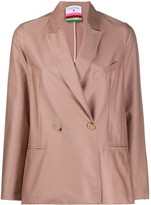 Danielapi double-breasted fitted blazer