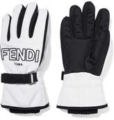 Fendi Two-tone Shell Ski Gloves - White