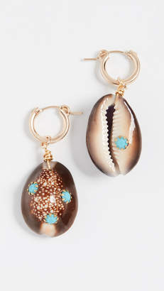 Eliza J Brinker & Long Weekend Huggie Earrings