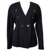 Laurèl Black Wool Jacket for Women Vintage
