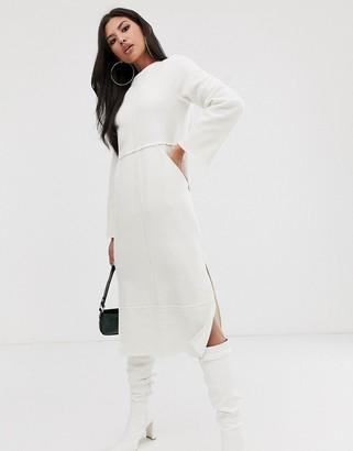 ASOS DESIGN super soft exposed seam patch pocket midi dress