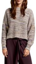 Michael Stars Michelle Alta Shaker Stitch Boxy Crop Cotton Blend Sweater