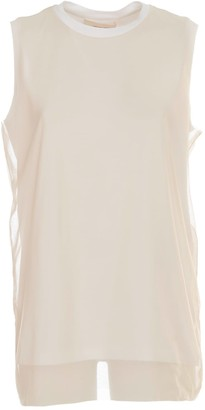 Liviana Conti Top Cotton And Tulel