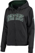 Unbranded Women's Charcoal Michigan State Spartans Arched Name Full Zip Hoodie