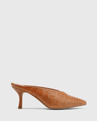 Wittner - Women's Brown Heels - Devlin Leather Stiletto Heel Pointed Toe Mules - Size One Size, 38 at The Iconic