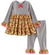Bonnie Jean Baby Girl Flower & Stripe Tunic & Leggings Set