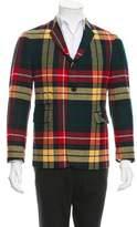 Black Fleece Wool Two-Button Blazer