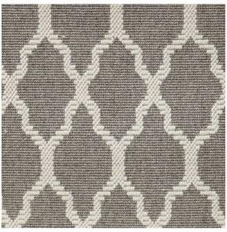 Pottery Barn Fibreworks Custom Tile Print Wool Rug - Gray/Ivory