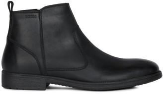 Geox Jaylon Leather Flat Ankle Chelsea Boots