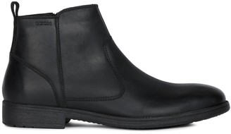 Geox Jaylon Leather Flat Ankle Chelsea Boots