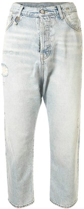 R 13 High-Rise Cropped Jeans