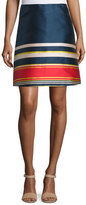 Suno Silk A-Line Skirt, Multicolor