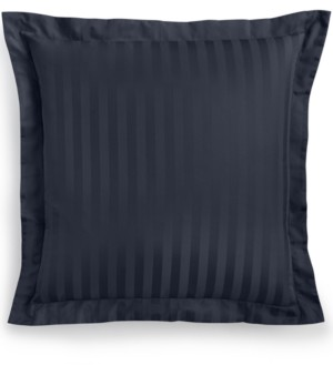 "Charter Club Damask 1.5"" Stripe European Sham, 100% Supima Cotton 550 Thread Count, Created for Macy's Bedding"