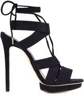 Monique Lhuillier 'Max' platform sandal - women - Leather/Suede - 35.5