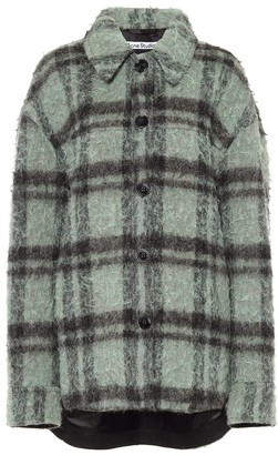 Acne Studios Checked wool-blend boucle jacket