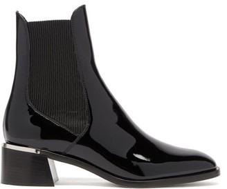 Jimmy Choo Rourke 45 Patent-leather Chelsea Boots - Black