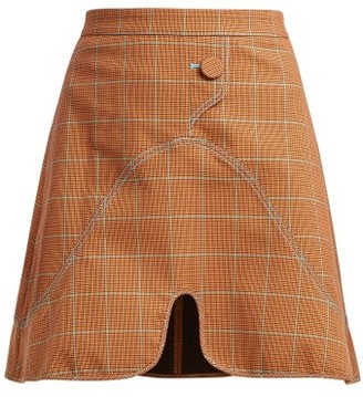 Ellery Milky Way Check Mini Skirt - Womens - Brown Multi