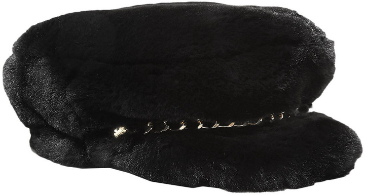 Eugenia Kim Marina Chain-embellished Faux Fur Cap