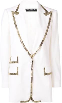 Dolce & Gabbana Embellished Long Blazer