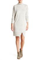 Love Stitch Mock Neck Long Sleeve Sweater Dress