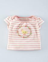 Boden Sweet Stripy Aplique T-shirt