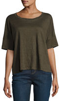 Eileen Fisher Easy Jersey Button-Front Tunic, Plus Size