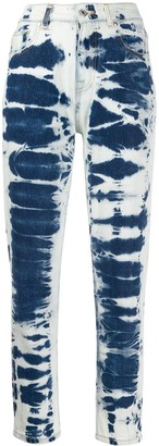 MSGM Bleached Effect Mom-Style Jeans