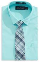 Nautica Shirt and Plaid Tie Set