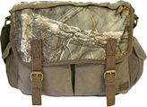 Realtree Leather-Trim Canvas Messenger Bag