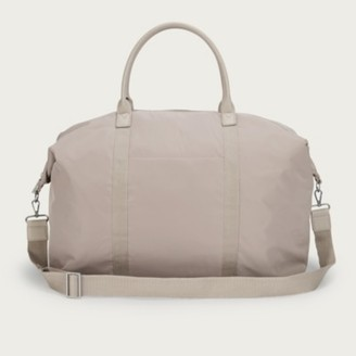 The White Company Recycled Nylon Weekender Bag, Taupe, One Size