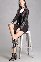 Forever 21 FOREVER 21+ Velvet Floral Embroidered Boots