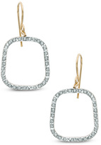Zales Diamond FascinationTM Rounded Square Drop Earrings in 14K Gold