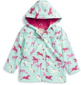Hatley Toddler Girl's Ponies & Polka Dots Hooded Raincoat