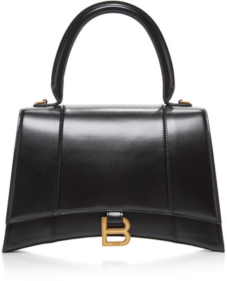 Balenciaga Medium Hourglass Calfskin-Leather Handbag