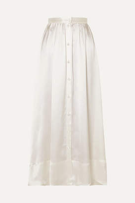 Deitas Bell Silk-satin Maxi Skirt - Ivory