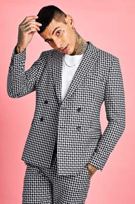 Check Detail Boxy Double Breasted Jacket