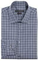 John Varvatos Men's Slim Fit Stretch Plaid Dress Shirt