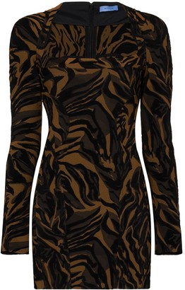 Thierry Mugler Tiger-Print Mini Dress
