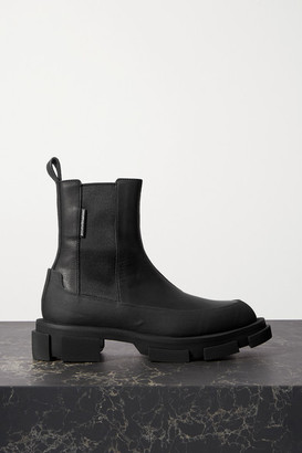 both Gao Rubber-trimmed Leather Platform Chelsea Boots - Black