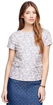 Brooks Brothers Short-Sleeve Floral Jacquard Top